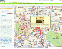 地図(「記事を探す」の画面)