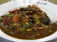 野菜カレー中辛(納豆トッピング)