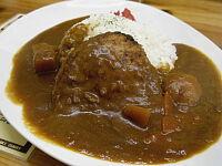 野菜カレー(佐世保ハンバーグハーフ)