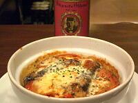 オイルサーディンとトマトの焼きカレー