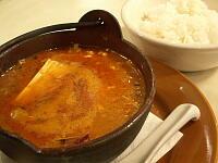 豆腐とひき肉の鉄鍋カレー
