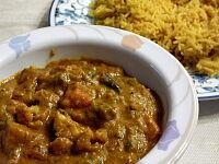 南インドの野菜カリーとバスマティ・ライス