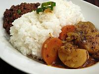 ツインカレー(やさしい野菜カレーとキーマカレー)