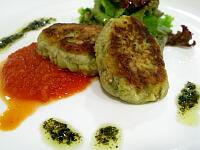 季節の野菜料理(焼ナスのトマトソース)
