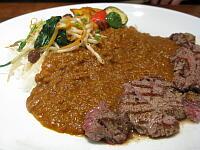 牛ヒレ肉のカレー