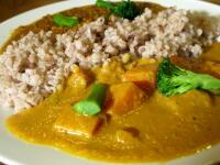 野菜カレーとキーマカレー